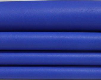 ELECTRIC BLUE smooth Italian genuine Lambskin Lamb Sheep leather skins hides 0.5mm to 1.2mm