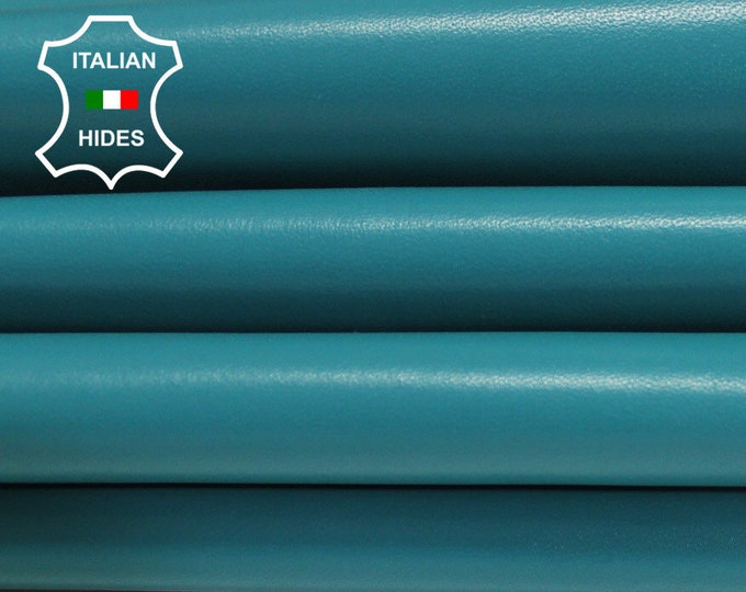 SEA GREEN light Teal smooth Italian Lambskin Lamb Sheep leather skin hide skins hides 4sqf-6sqf 1.0mm #AMT150