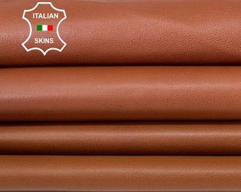 CUOIO RUSTY BROWN saddle soft Italian lambskin lamb sheep leather skin hide hides skins 4+sqf 0.7mm #A8328