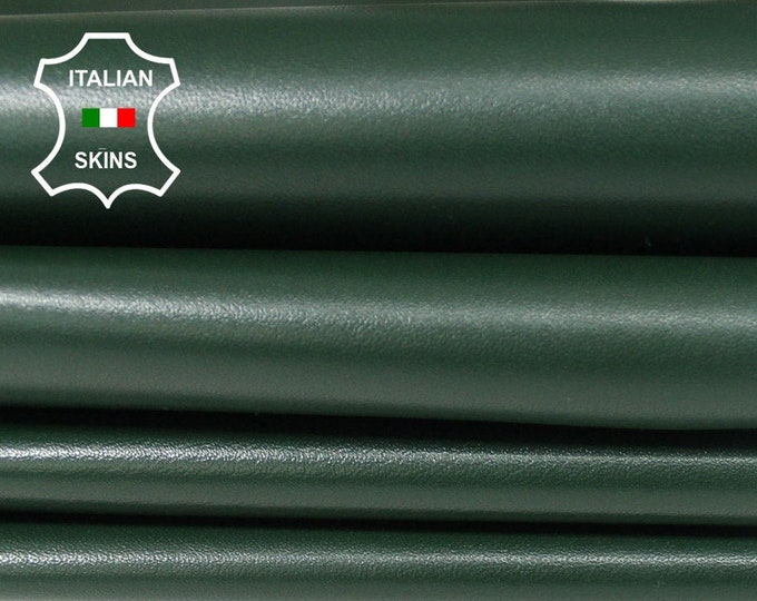 FOREST GREEN dark green Italian Lambskin Lamb Sheep leather material for sewing skins hides 5-7sqf 0.8mm #A6157