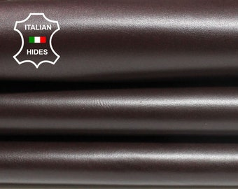 MAROON REDWOOD BROWN strong smooth Calfskin Calf Cow Cowhide upholstery leather skin hide skins hides 17+sqf 1.3mm #A4307