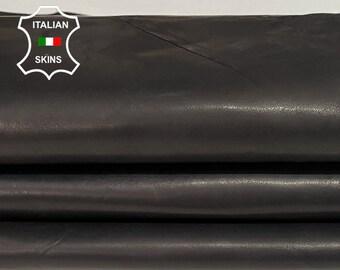 ANTIQUED BLACK Italian Lambskin Lamb Sheep leather bookbinding crafts skin skins hide hides 7sqf 0.8mm #A7744