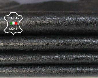 PATENT BLACK CRINKLE crackle crackled shiny Genuine Italian Goatskin Goat leather pack 4 skins hides total 24sqf 0.8mm #A6113