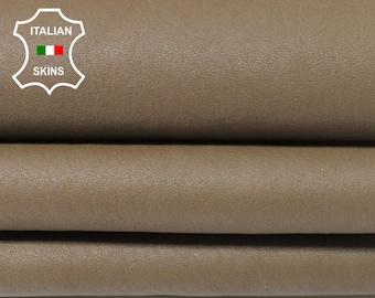 KHAKI BROWN with black Wool backside soft Italian Lambskin Lamb Sheep leather skin hide hides skins 5sqf #A5526