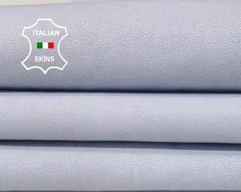 WASHED POWDER BLUE  vegetable tan Italian genuine Lambskin Lamb Sheep wholesale leather skins sewing material  high quality 0.5mm to 1.2mm