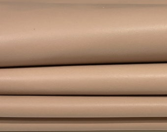 NUDE beige soft smooth Italian Lambskin Lamb Sheep leather skin skins hide hides 6sqf 0.6mm #A7601