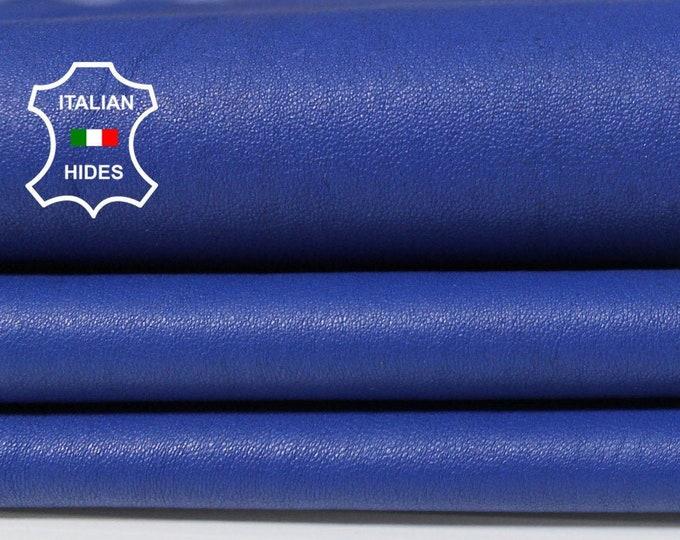 BLUE STRETCH soft Italian Lambskin Lamb Sheep leather skin hide skins hides 7sqf 0.6mm #A5267