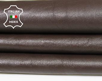BROWN thin soft Italian Lambskin Lamb Sheep leather skin hide skins hides 4sqf 0.5mm #A5431