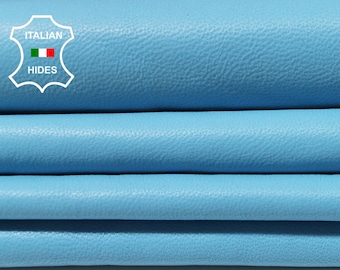 AZUR BLUE sky blue sky smooth Italian genuine Lambskin Lamb Sheep wholesale leather skins material for sewing high quality 0.5mm to 1.3mm