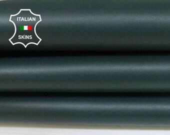 BOTTLE GREEN dark green Italian Lambskin Lamb Sheep leather sewing crafts bookbinding skins hides  6-7sqf 1.0mm #A7045