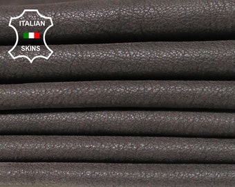 NATURAL BROWN pebble grain grainy soft Italian Calfskin Calf cow leather material for sewing skin hide hides skins 18-20sqf 0.7mm #B1