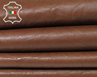 BROWN washed antiqued wrinkled rustic vegetable tan Italian Lambskin Lamb sheep leather skin hide skins hides 7sqf 1.0mm #A5575