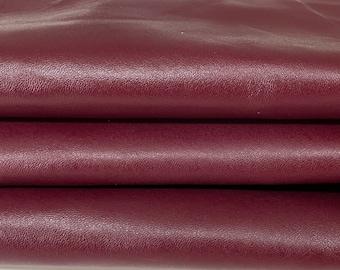 WINE BORDEAUX vegetable tan Italian Goatskin Goat wholesale leather skins 0.5mm to 1.2 mm