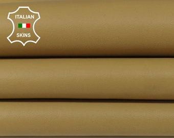 SAND BEIGE sandy tan Italian Lambskin Lamb Sheep leather 4 skins hides total 25sqf 0.8mm #A5985