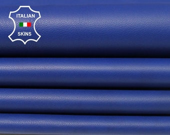 ROYAL BLUE Italian Lambskin Lamb Sheep leather 2 hides skins total 14sqf 0.8mm #A5510