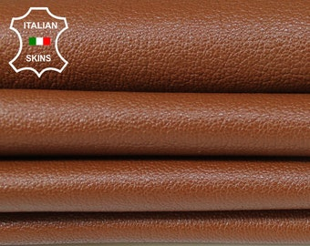 MEDIUM BROWN rust grainy rough Italian Goatskin Goat leather material for crafts skins hides 4-6sqf 1.0mm #A6314