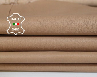 NUDE thin soft Italian Lambskin Lamb Sheep Genuine leather fabric material sewing crafts skin hide skins hides 7sqf 0.5mm #A6102