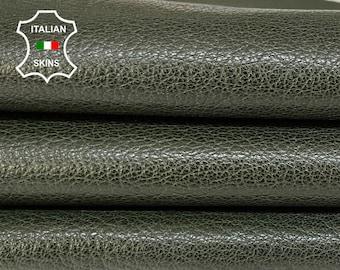BOTTLE GREEN ANTIQUED rough vegetable tan Italian goatskin goat leather skin skins hide hides 5sqf 1.2mm #A8405
