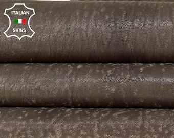 BROWN STONEWASH VINTAGE look vegetable tan soft Italian goatskin goat leather skin skins hide hides 7sqf 1.2mm #A8466