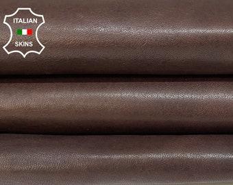 DARK BROWN ANTIQUED rustic vegetable tan Italian goatskin goat leather skin skins hide hides 6sqf 0.9mm #A8438