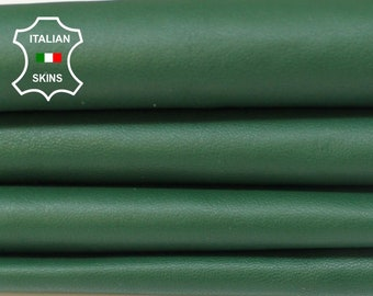 GREEN soft Italian Lambskin Lamb Sheep leather material for sewing fabric skin hide skins hides 7sqf 0.8mm #A5969