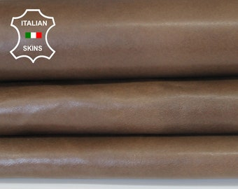 CAMEL BROWN antiqued vintage look Italian Lambskin Lamb Sheep leather material for crafts skin hide 8sqf 0.8mm #A6567