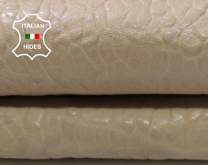 SAND GRAINY sandy tan beige thick Italian lambskin lamb sheep leather skin hide skins hides 4+sqf 1.2mm #A4259