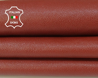 BRIC BROWN Italian Calfskin Calf cow cowhide upholstery leather skin hide skins hides 8sqf 1.2mm #A6759