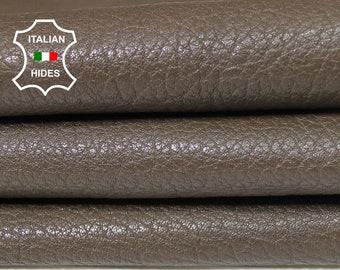 KHAKI BROWN GRAINY textured vegetable tan tanned soft Italian Lambskin Lamb Sheep leather skin hide skins hides 5sqf 1.0mm #A5428