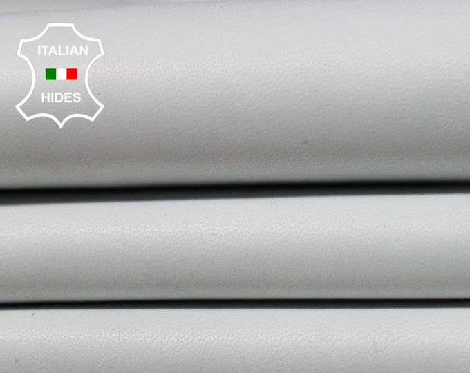 OFF WHITE UNDYED chrome dye soft genuine Italian Lambskin Lamb Sheep leather material for sewing 12 skins hides total 85sqf 0.7mm