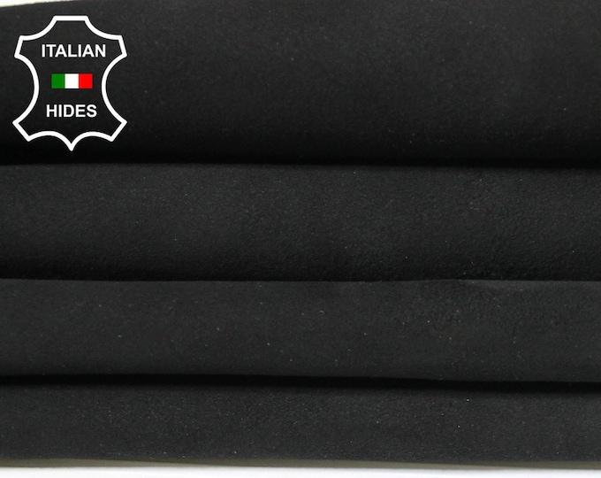 BLACK SUEDE Italian Goatskin Goat leather 6 skins hides total 18sqf 1.2mm #A4977