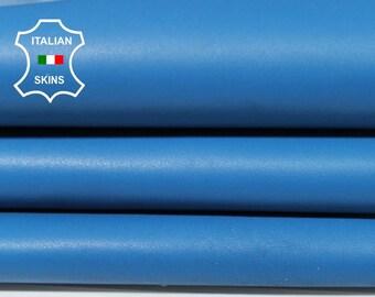 BLUE Italian Lambskin Lamb Sheep leather skin hide hides skins 4sqf 0.7mm #A5514