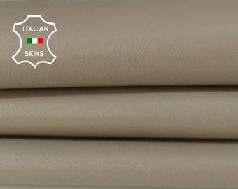 KHAKI BEIGE soft smooth Italian Lambskin Lamb Sheep leather material sewing skin hide skins hides 4sqf 0.6mm #A5935
