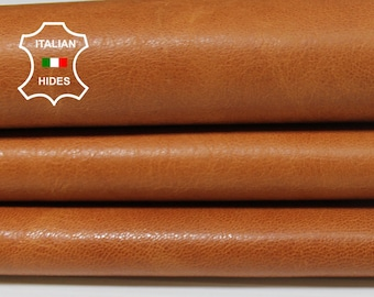 COGNAC BROWN BRANDY aniline natural vegetable tan Italian genuine Goatskin Goat Leather leather wholesale skins hides 0.5mm to 1.2mm