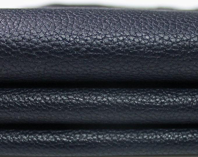NAVY BLUE PEBBLE Grainy Grain vegetable tan tanned Italian Lambskin Lamb Sheep leather skin hide skins hides 5sqf 0.7mm #A4363