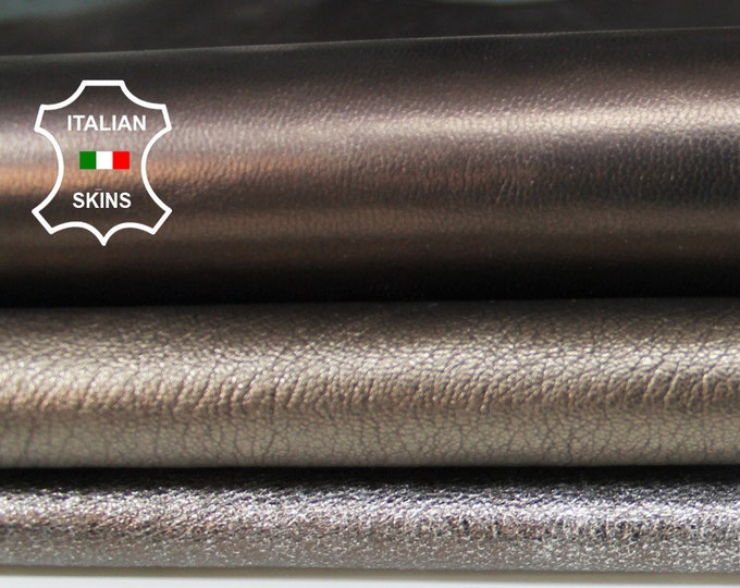 METALLIC BRONZE 3 shades strong Goatskin Goat leather material for sewing crafts 3 skins hides total 14sqf 0.79mm #A6154