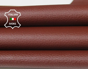 BROWN PEBBLE GRAINY Maroon grain textured Italian genuine Goatskin Goat Leather skins hides 0.5mm to 1.2mm