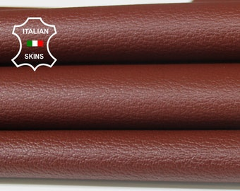 MAROON BROWN PEBBLE grainy grain textured Italian Goatskin Goat leather material for crafts skin skins hides 4-7sqf 0.6mm #A6527