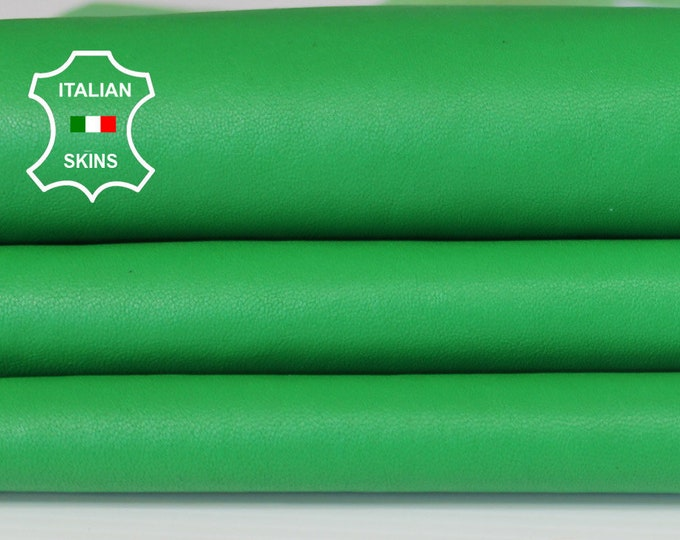 WASHED GREEN vegetable tan Italian genuine Goatskin Goat wholesale leather skins material for sewing high quality 0.5mm to 1.2mm