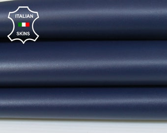 NAVY BLUE dark blue smooth Italian Lambskin Lamb Sheep Leather sewing crafts bookbinding skins 6-7sqf 0.7mm #A7046