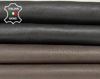 PACK BLACK & TAUPE washed vegetable tan Italian goatskin goat leather skin pack 2 skins total 9sqf 1.0mm #A8420
