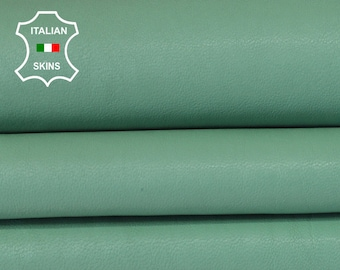 WASHED LIGHT GREEN vegetable tan Italian genuine Goatskin Goat wholesale leather skins material for sewing high quality 0.5mm to 1.2mm