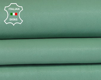 JADE GREEN WASHED light jade paris green vegetable tan Italian Goatskin Goat leather bookbinding skins hides skin hide 6sqf 0.8mm #A6503