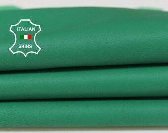 GREEN soft Italian Lambskin Lamb Sheep leather material for sewing fabric skin hide skins hides 6sqf 0.7mm #A5972
