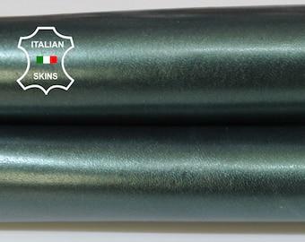 METALLIC TEAL GREEN petrol green Italian Goatskin Goat leather skin hide skins hides 3sqf 0.8mm #A5962