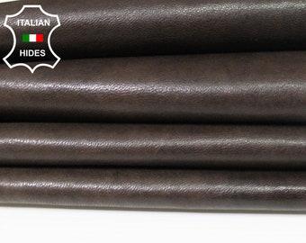 BROWN ANTIQUED vegetable tan tanned soft Italian Lambskin Lamb Sheep leather skin hide skins hides 6sqf 0.8mm #A5426