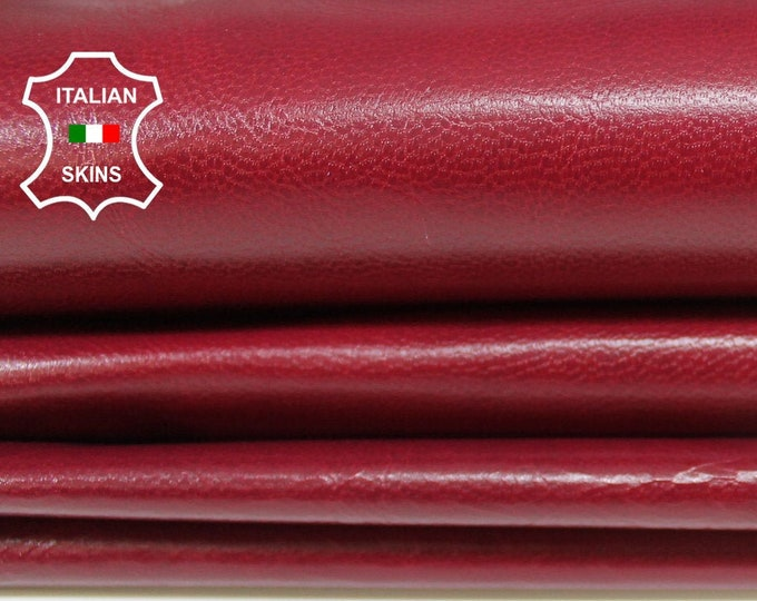 RED WINE ANTIQUED Vegetable tan Italian genuine Goatskin Goat leather skins hides 0.5mm to 1.2mm