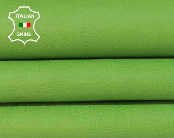 WASHED LIME GREEN soft Italian Lambskin Lamb Sheep leather material for sewing fabric 3 skins hides total 18sqf 0.8mm #A5974