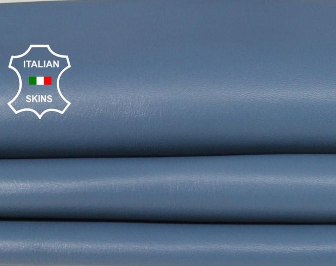 GREYISH BLUE grey blue soft Italian Lambskin Lamb Sheep leather for crafts bookbinding earrings skin hide skins hides 6sqf 0.7mm #A6693