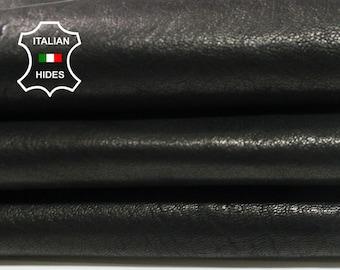 WASHED BLACK bronze hue Italian vegetable tan Goatskin Goat leather skin hide skins hides 4sqf 0.8mm #A4384
